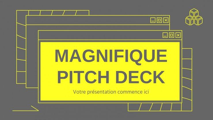 Plantilla de presentación Pitch deck Magnifique