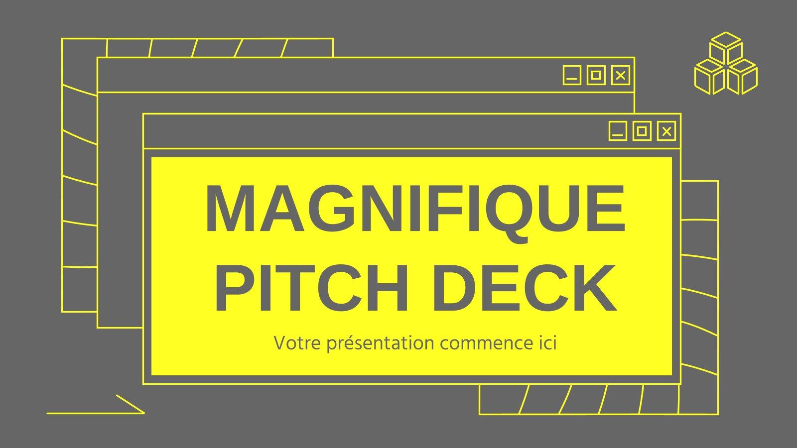 Modelo de apresentação Pitch deck Magnifique