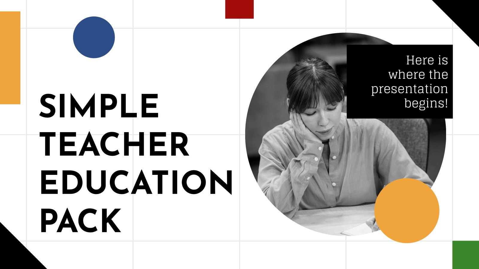 Simple Teacher Education Pack presentation template