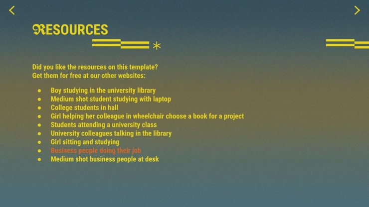 Friendly College and University Listings presentation template