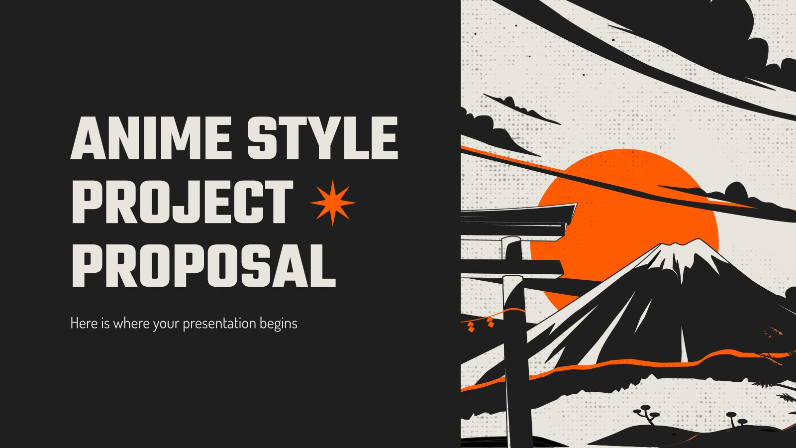 Anime Style Project Proposal presentation template