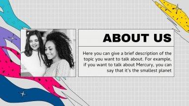 Croke Grid & Textures Company Profile presentation template