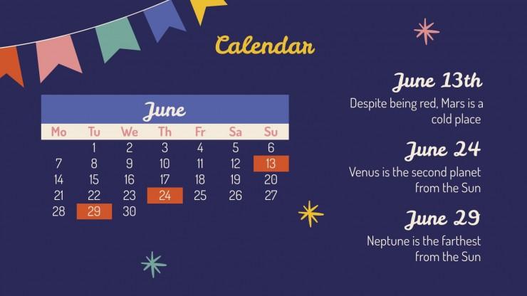 Modelo de apresentação Festas Juninas