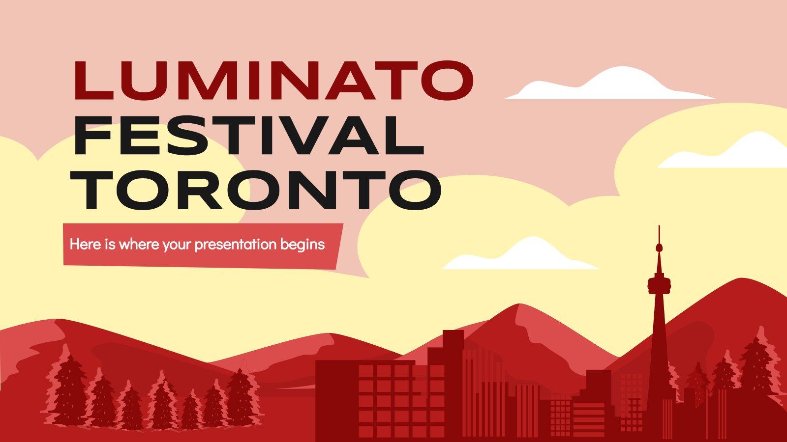 Plantilla de presentación Festival Luminato de Toronto
