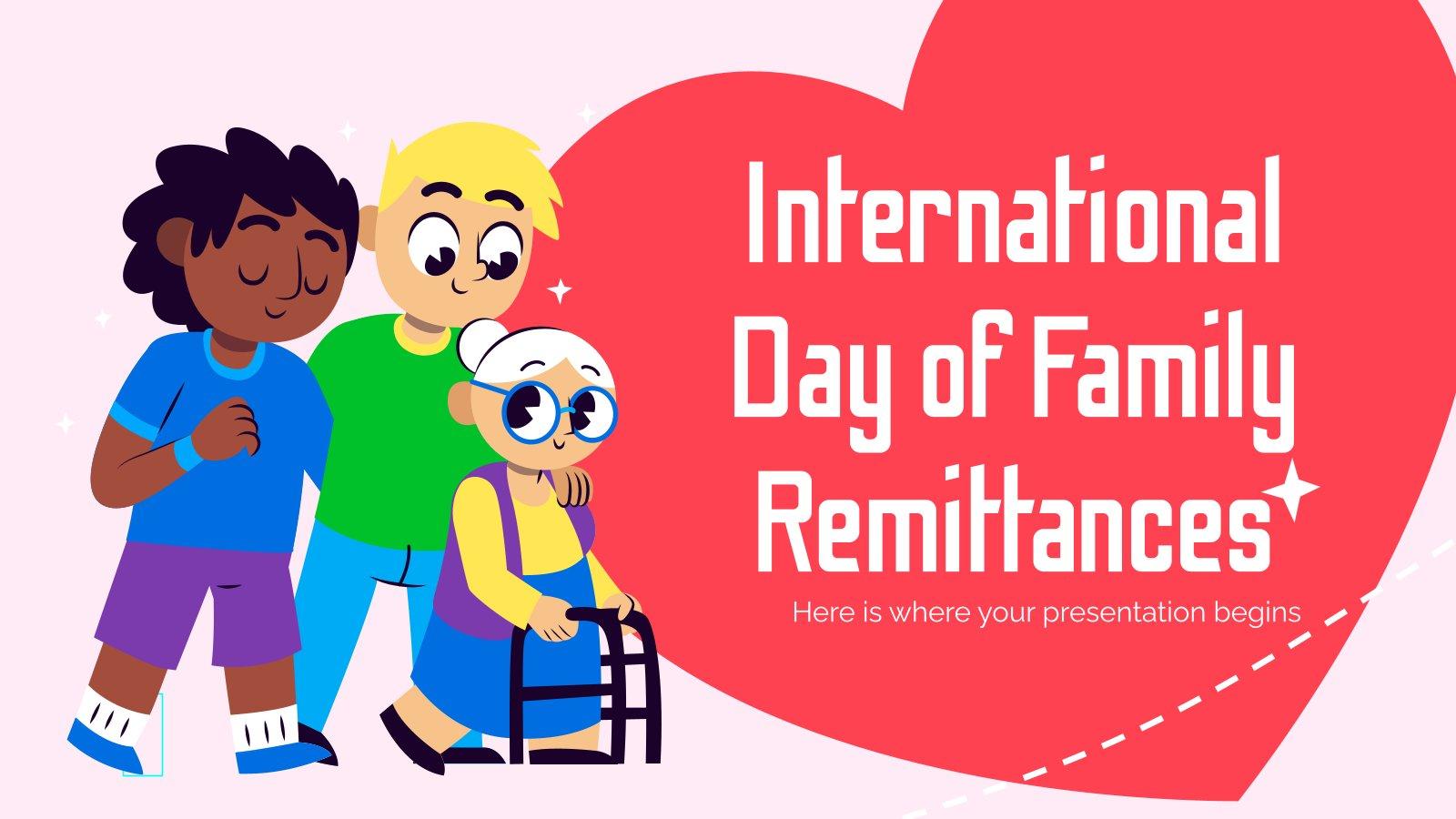 Plantilla de presentación Día Internacional de las Remesas Familiares