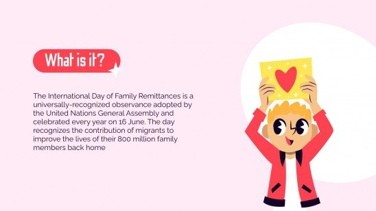 International Day of Family Remittances presentation template