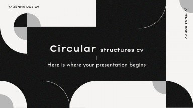 Plantilla de presentación CV con formas circulares
