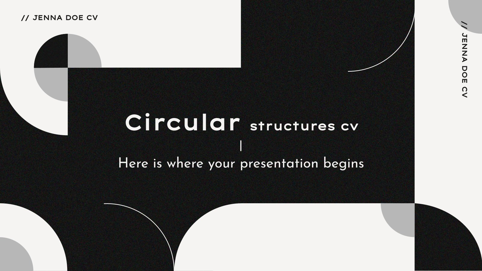 Circular Shapes CV presentation template