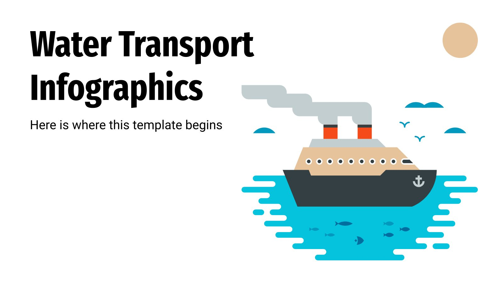 Water Transport Infographics presentation template