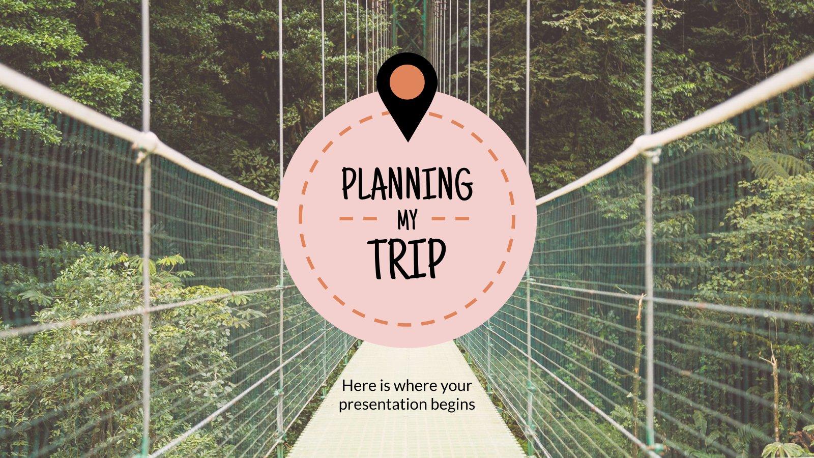 Modelo de apresentação Planejando minha viagem