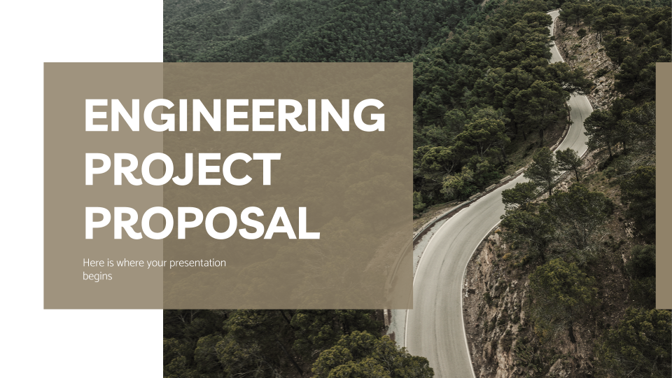 Engineering Project Proposal presentation template