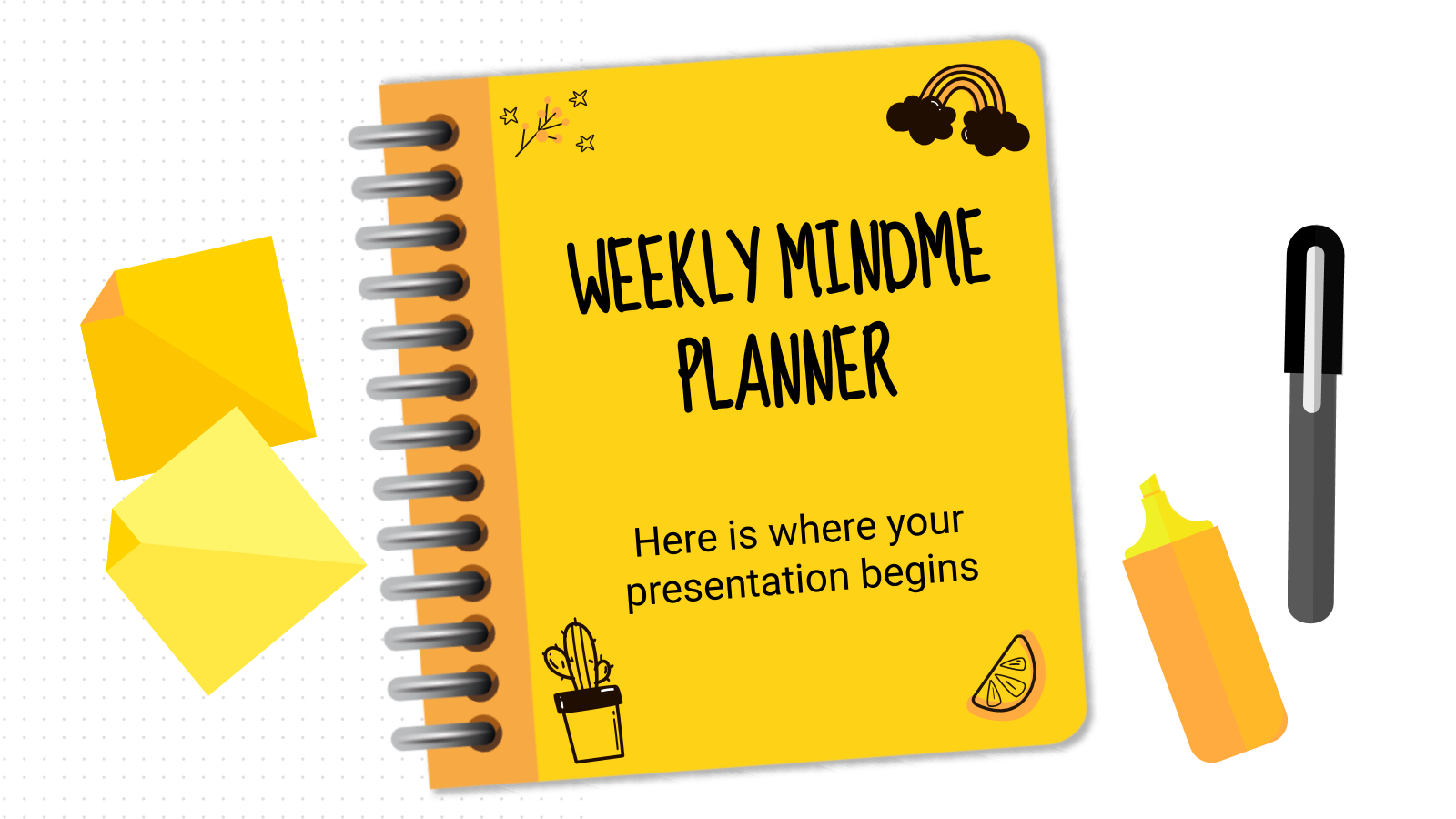 Weekly Mindme Planner presentation template