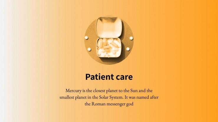 Modelo de apresentação Projeto minimalista para centros médicos