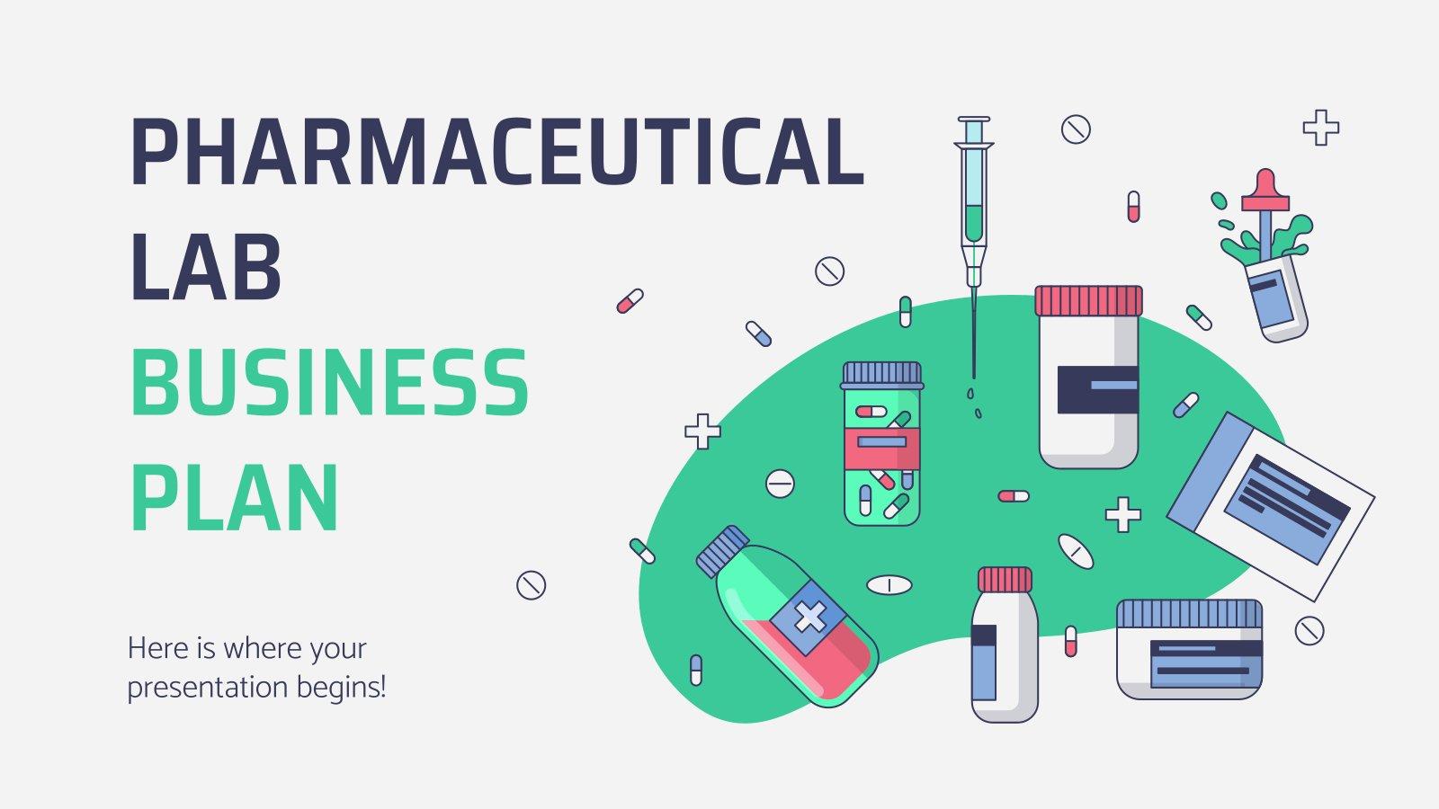 Geschäftsplan für das pharmazeutische Labor Präsentationsvorlage