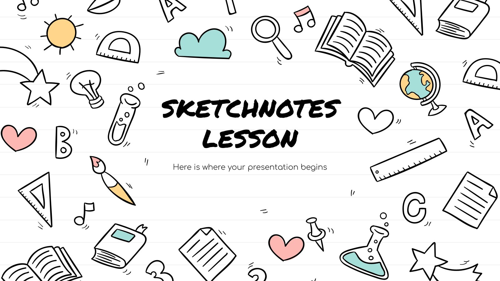Sketchnotes-Lektion Präsentationsvorlage