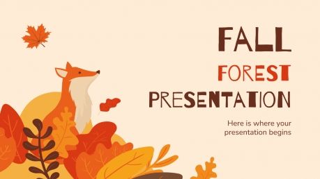 Fall Forest presentation template