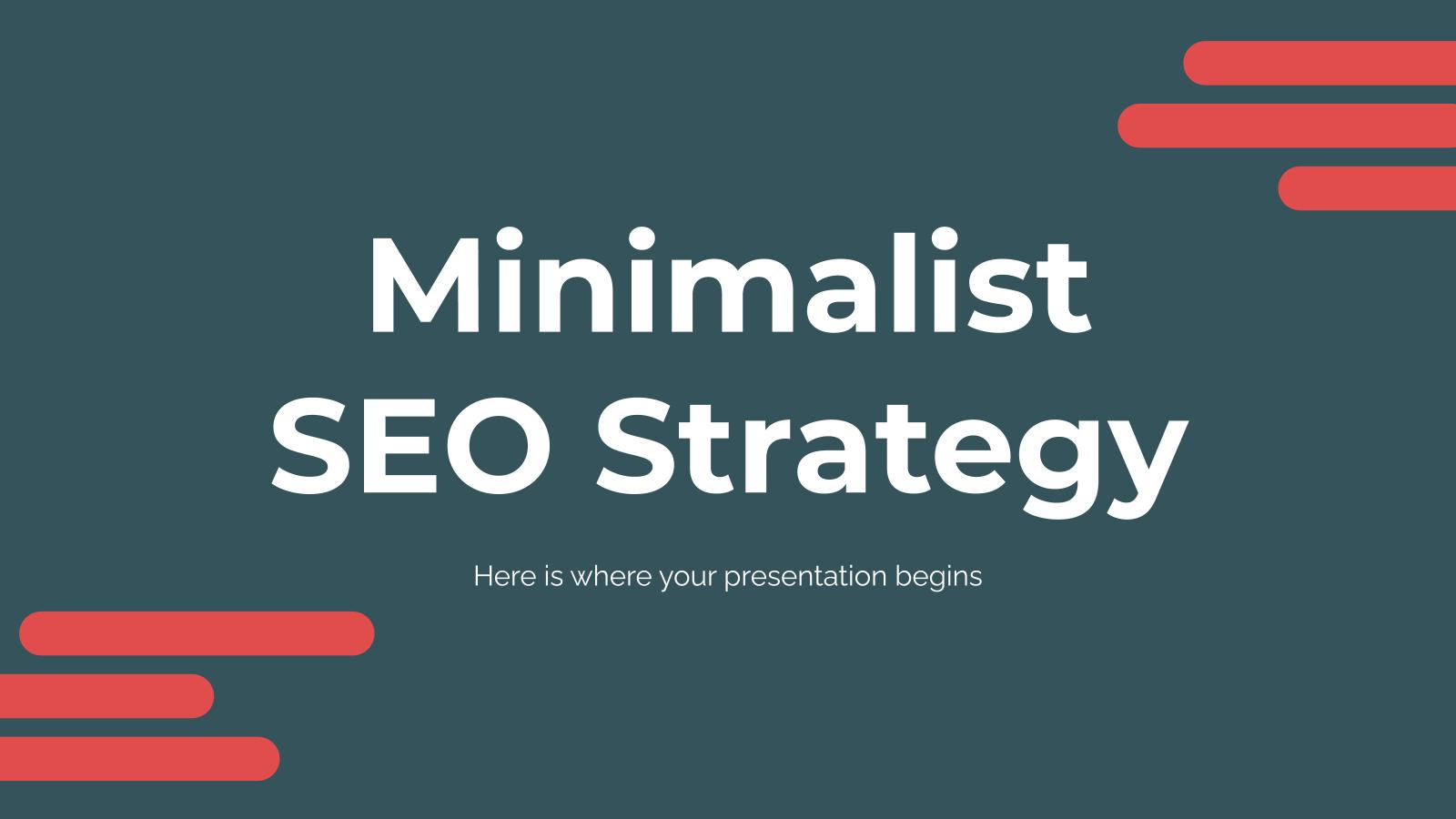 Minimalistische SEO-Strategie Präsentationsvorlage