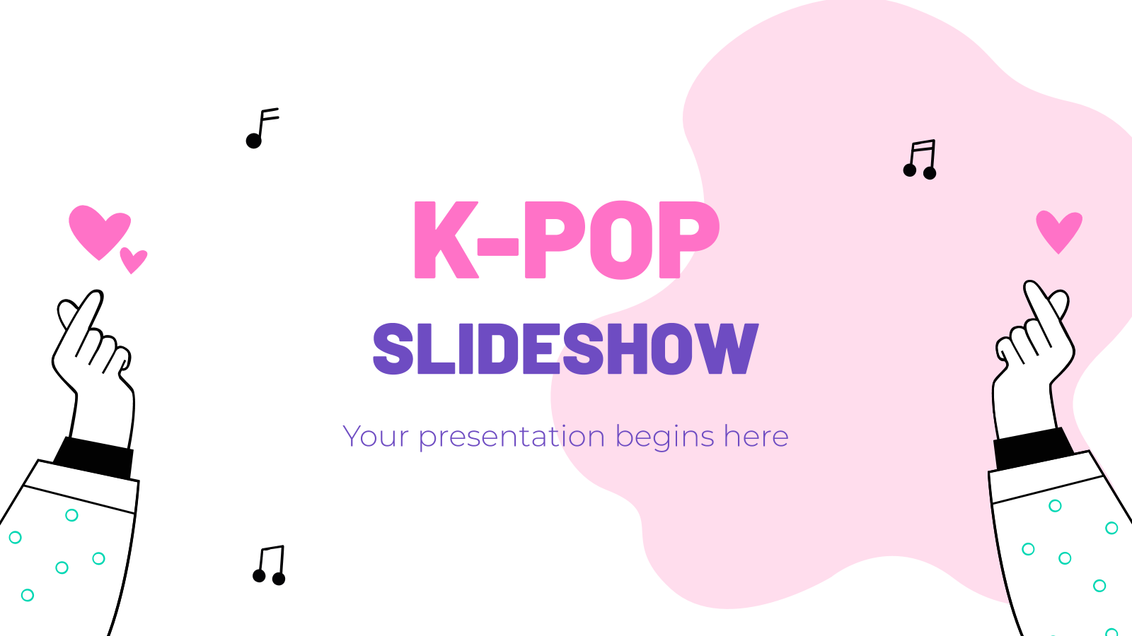 K-pop Slideshow presentation template