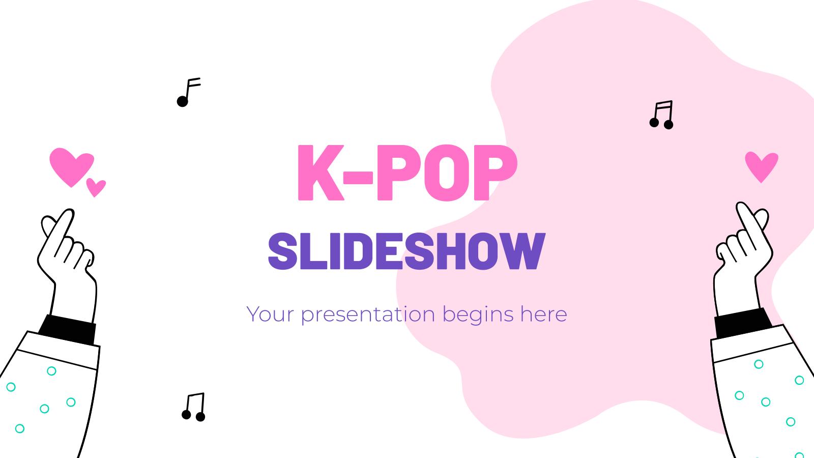 K-pop Diashow Präsentationsvorlage