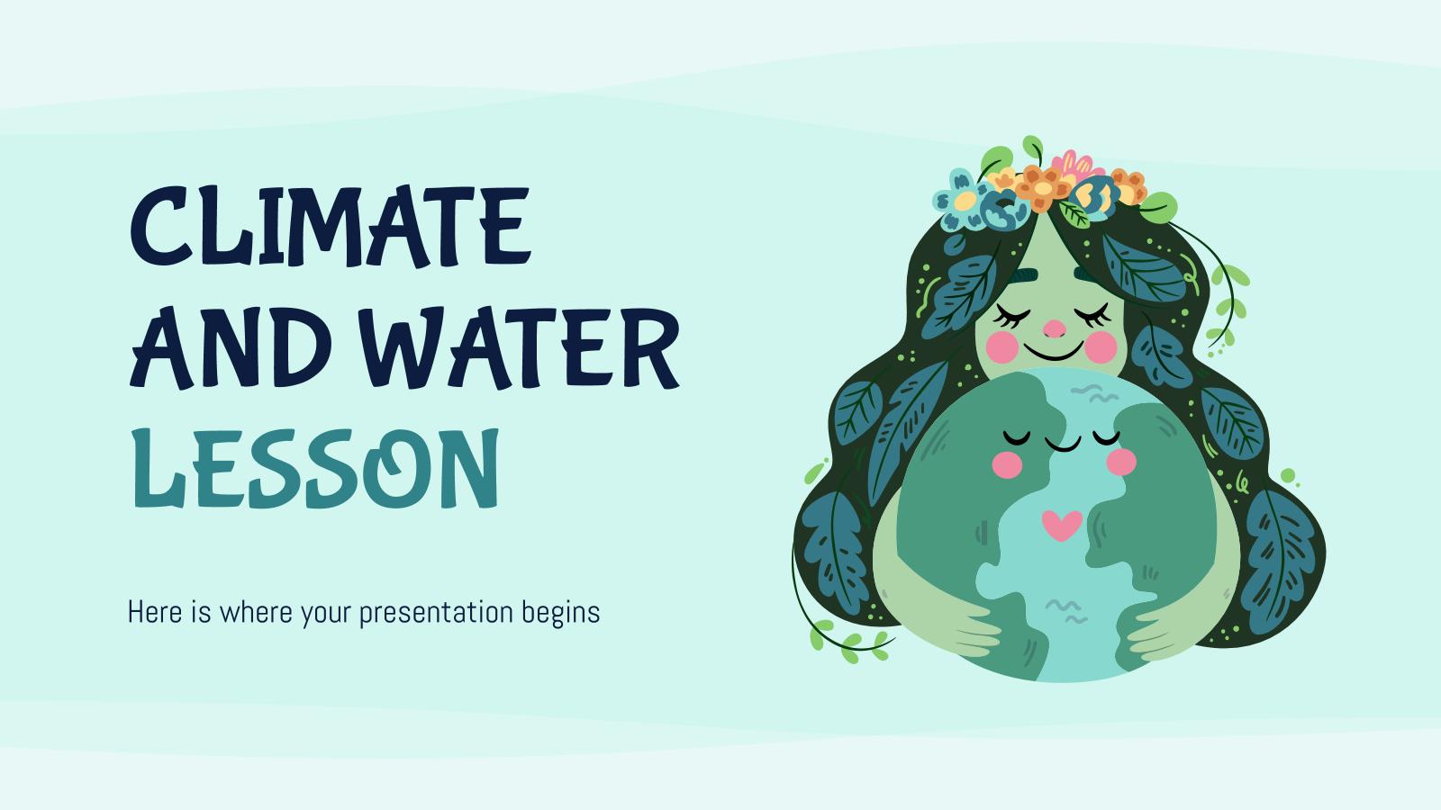 Plantilla de presentación Clase sobre el clima y los océanos