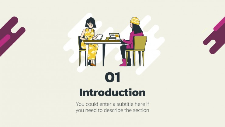 College Interview Tips presentation template