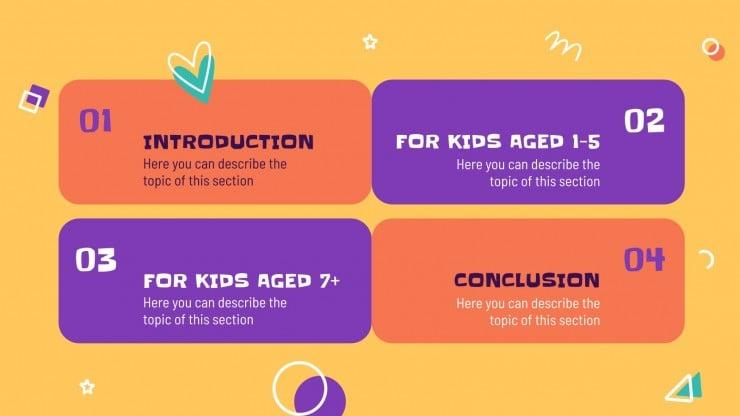 Spiele für Kinder Präsentationsvorlage