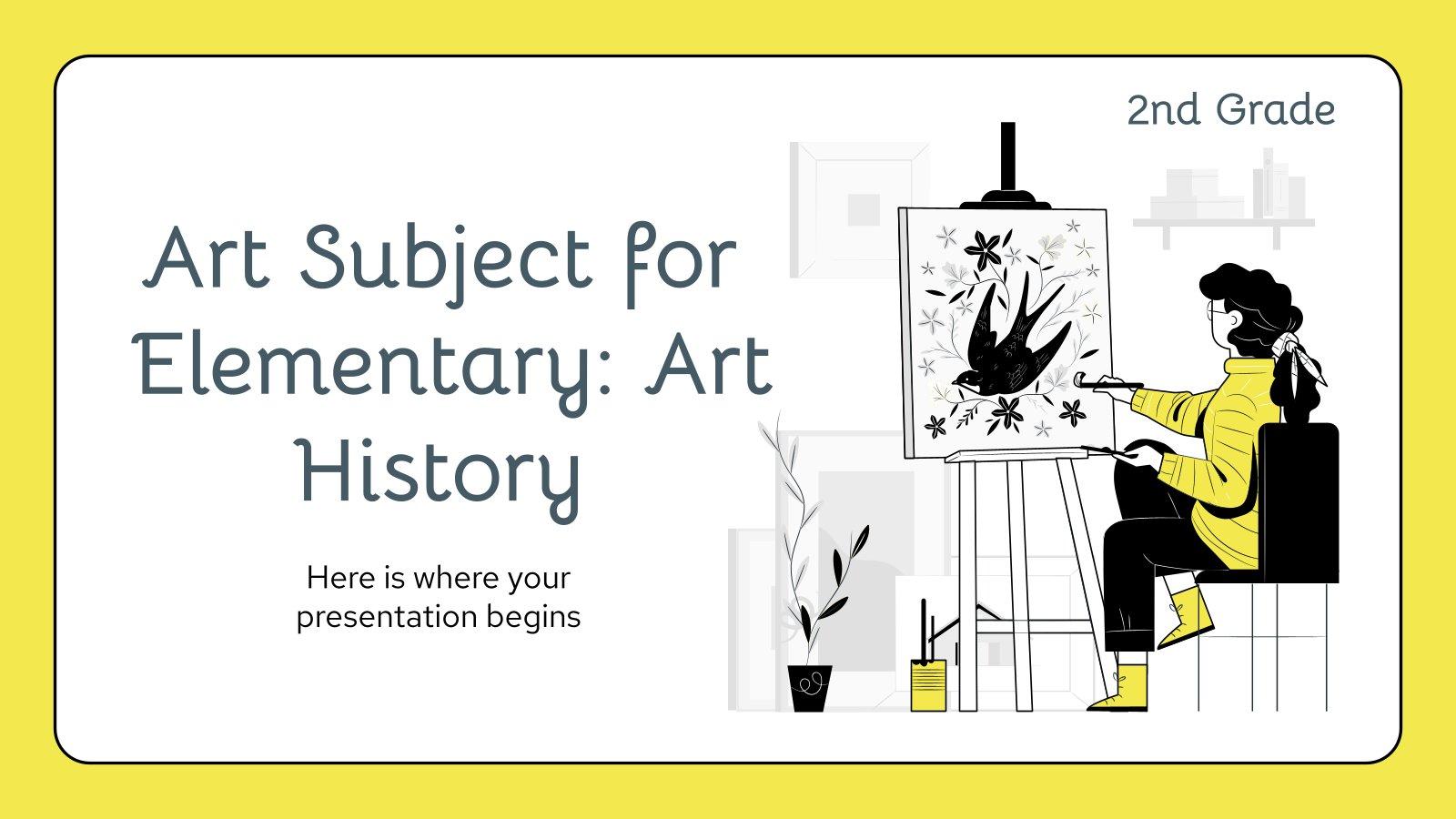 Kunst für die 2. Klasse: Kunstgeschichte Präsentationsvorlage