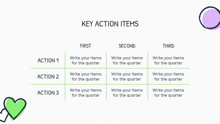 Modelo de apresentação Estratégia de marketing digital com rabiscos