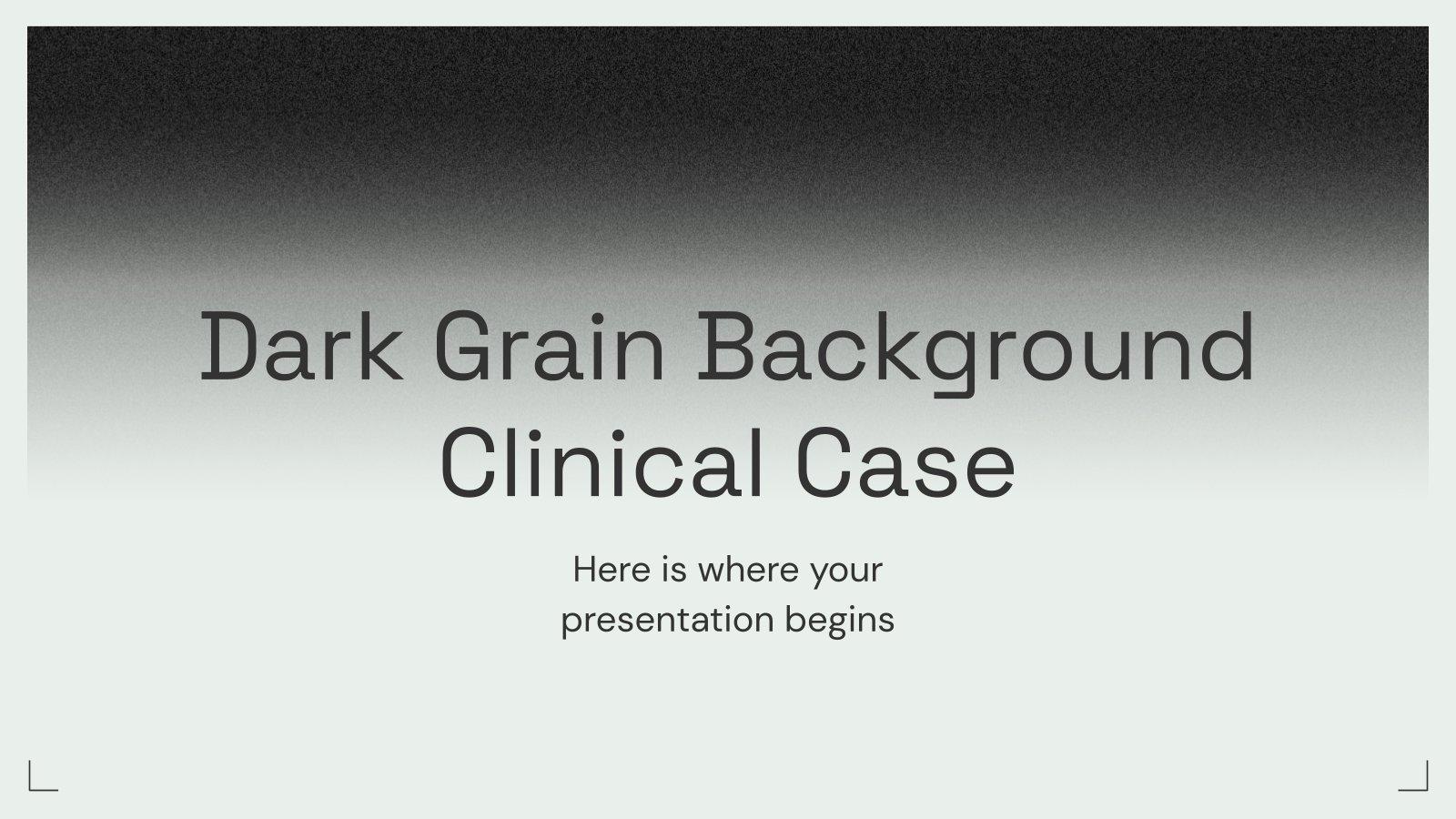 Modelo de apresentação Caso clínico com fundo granular escuro