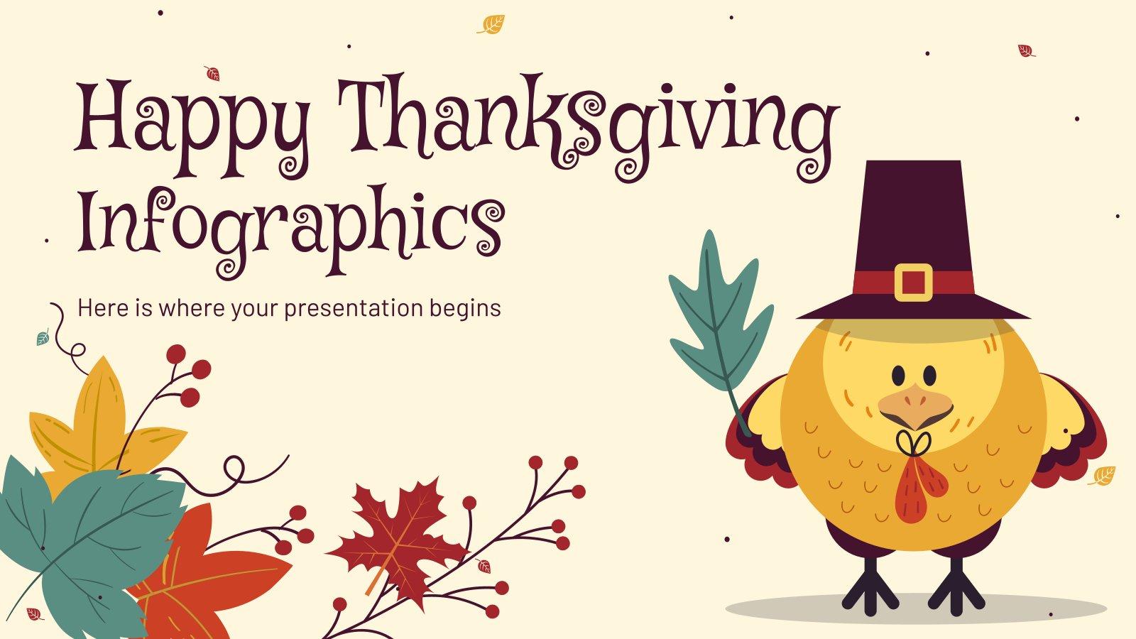 Frohes Erntedankfest Infografiken Präsentationsvorlage