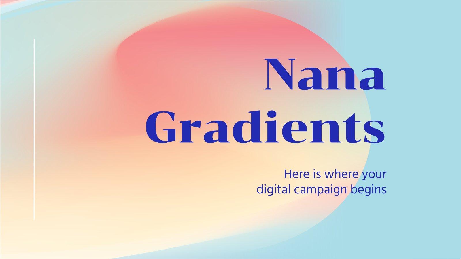 Nana Gradients Business Meeting presentation template
