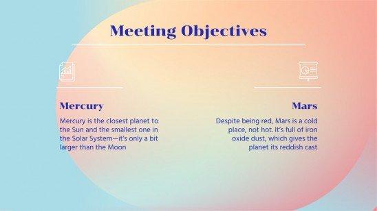Plantilla de presentación Reunión de negocios con degradados Nana
