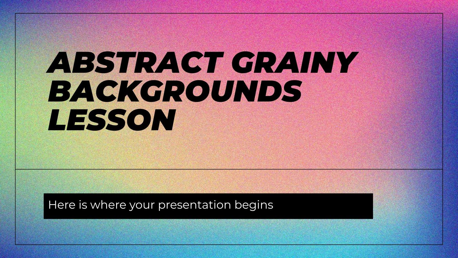 Modelo de apresentação Fundos granulosos abstratos para aulas