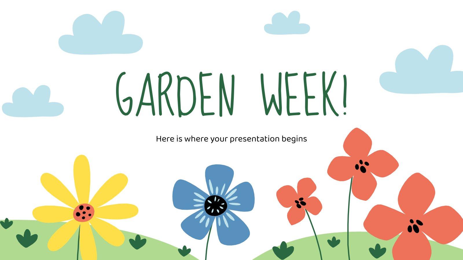 Modelo de apresentação Semana da jardinagem
