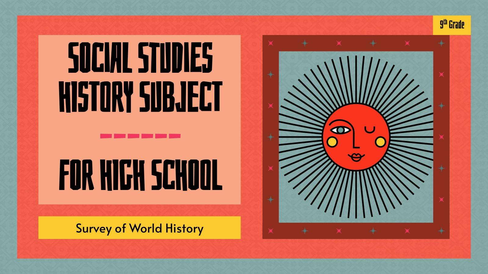 Etudes sociales et histoire pour l'école secondaire : Modèles de présentation