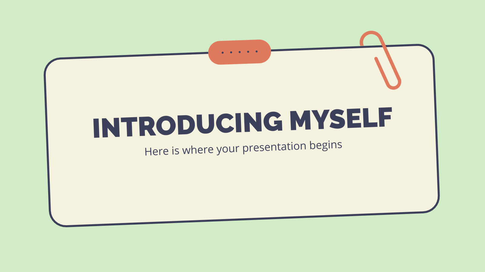 Introducing Myself presentation template