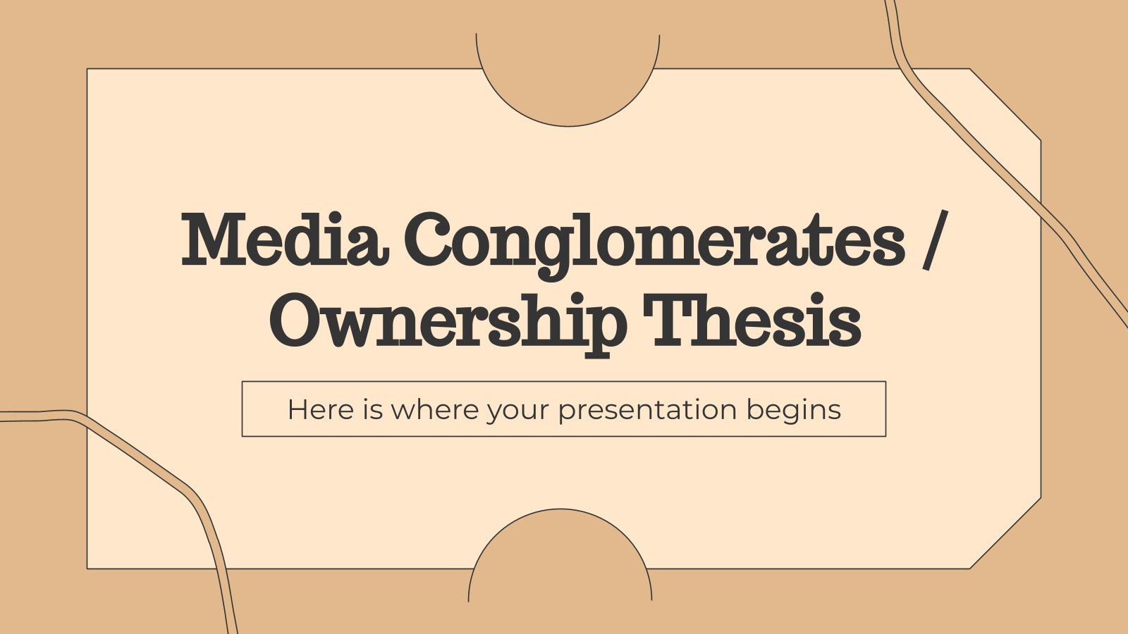 Media Conglomerates / Ownership Thesis presentation template