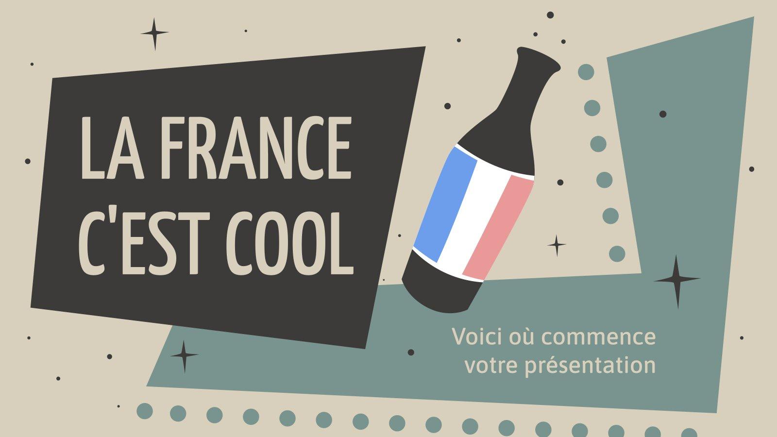 La France C'est Cool presentation template