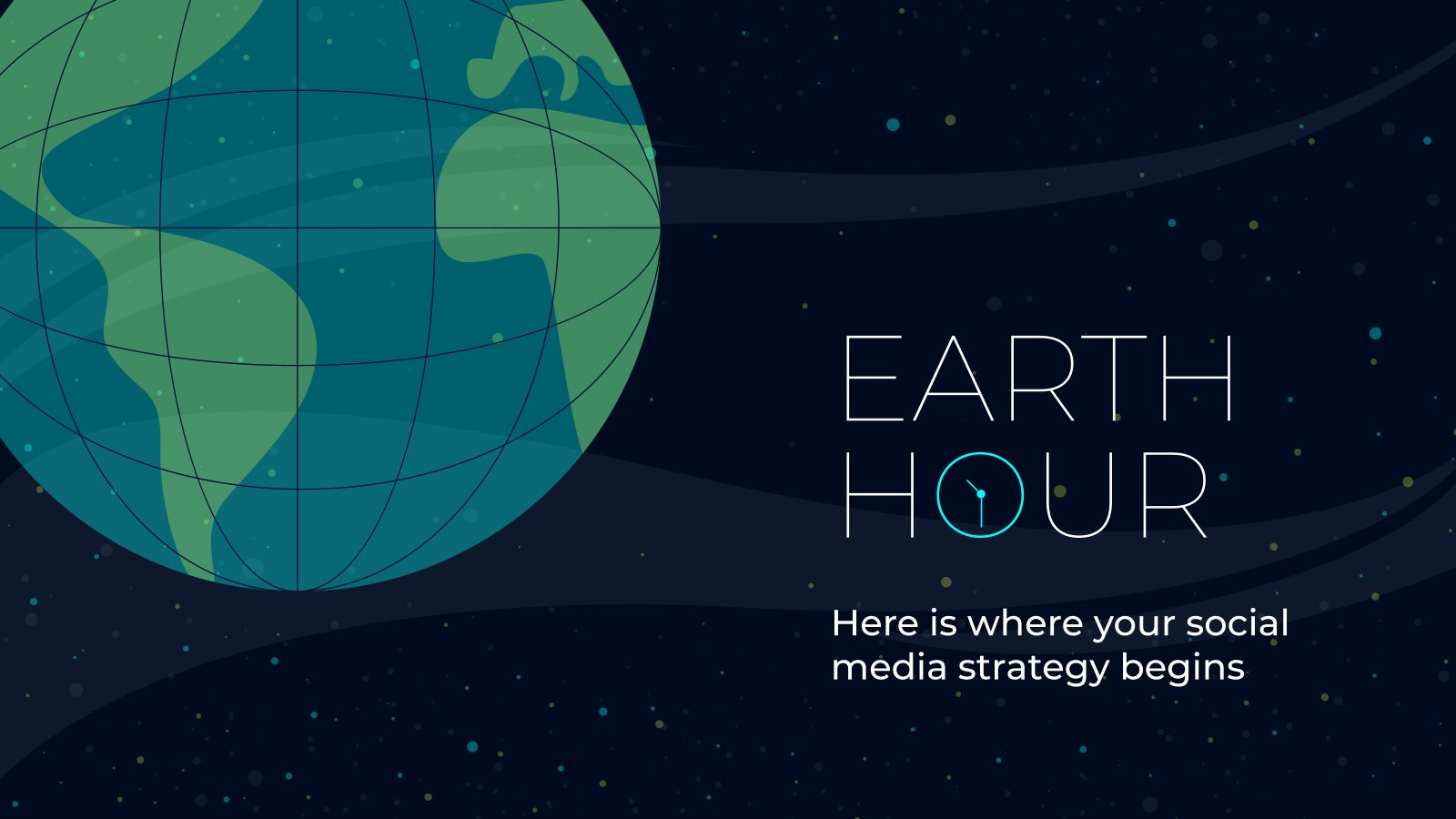 Earth Hour Social-Media Präsentationsvorlage