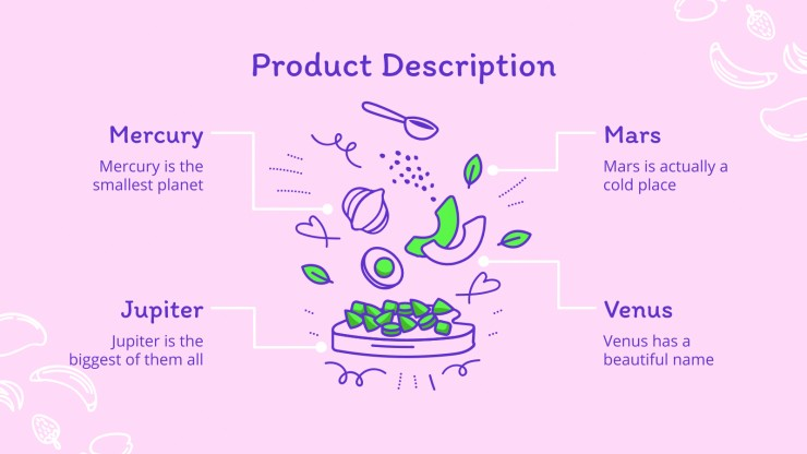 Food Doodles Strategy presentation template