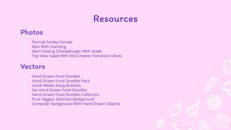 Stratégie croquis nourriture : Modèles de présentation