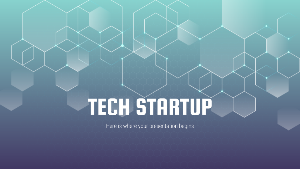 Tech Startup - Free Presentation Template for Google Slides