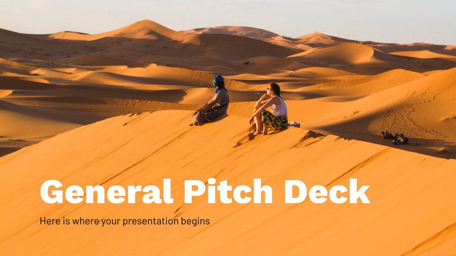 Modelo de apresentação Pitch deck de vendas