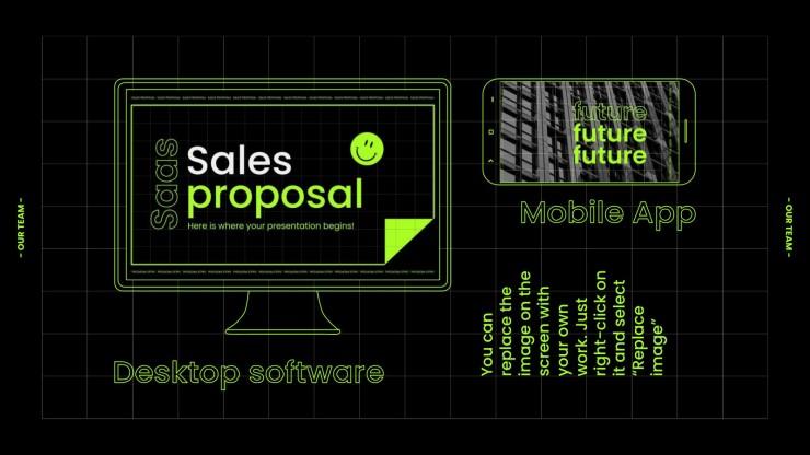 Proposition de ventes Saas : Modèles de présentation