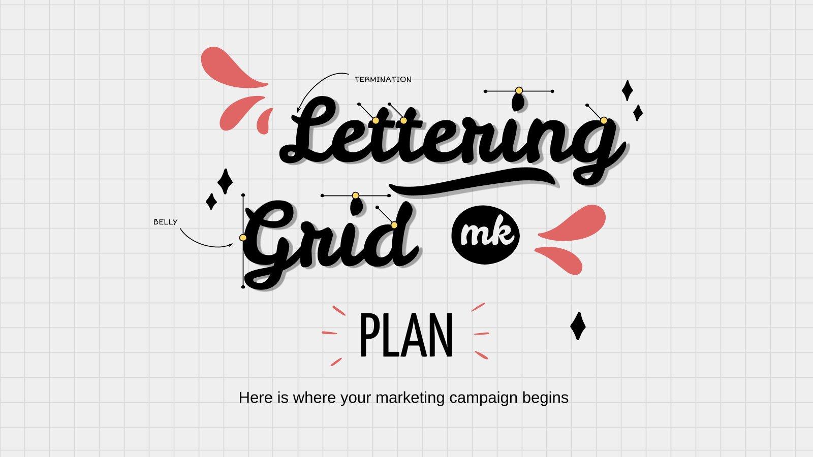 Lettering Raster MK-Plan Präsentationsvorlage