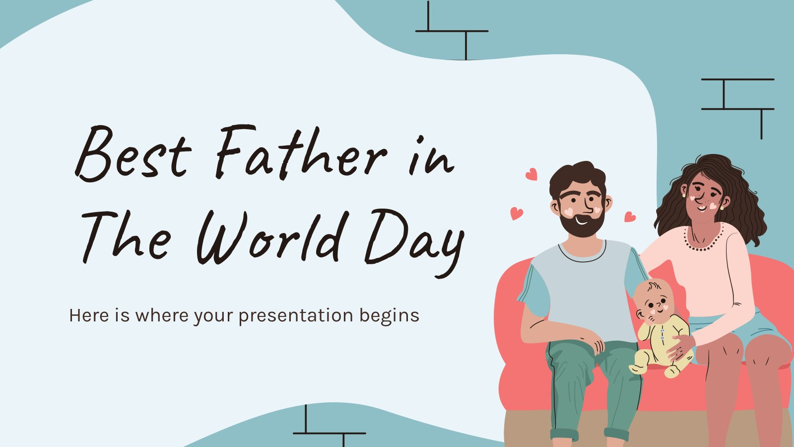 Best Father in The World Day presentation template