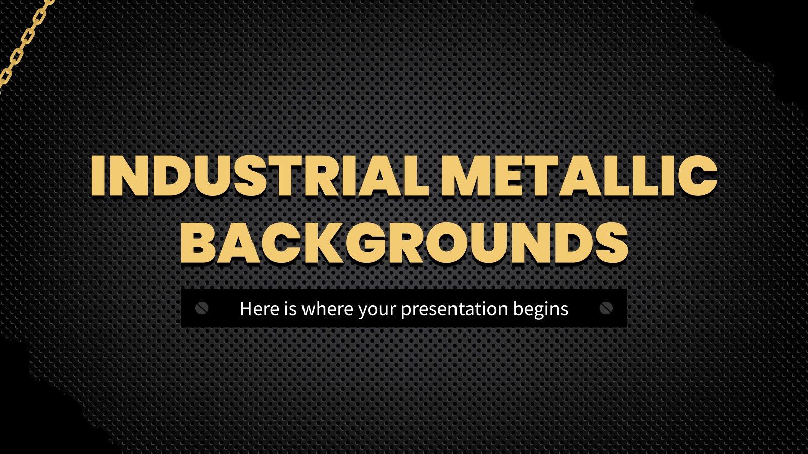 Plantilla de presentación Fondo industrial metálico