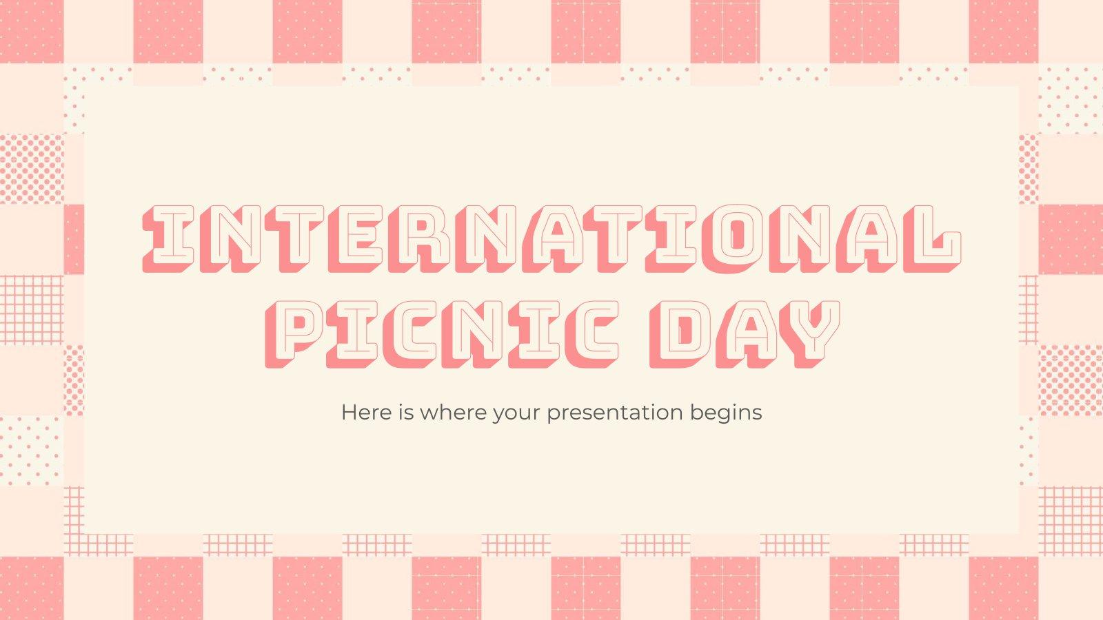 Internationalen Tag des Picknicks Präsentationsvorlage