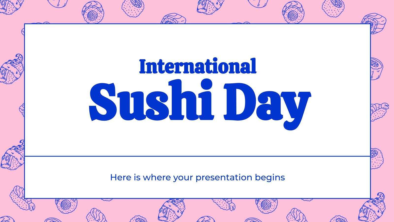 Modelo de apresentação Dia Internacional do Sushi