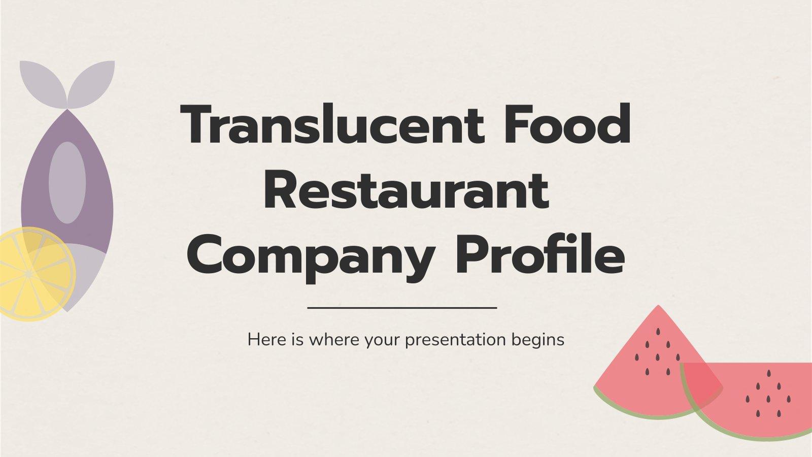 Profil de l'entreprise : Restaurant : Modèles de présentation